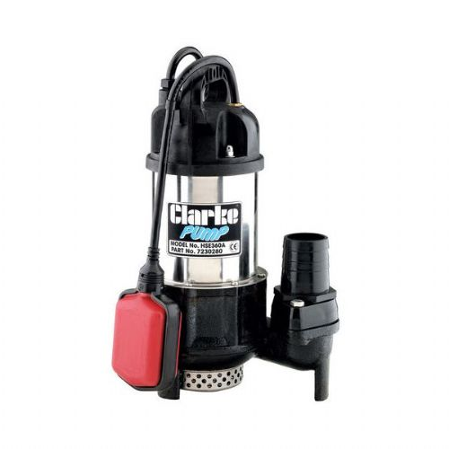 Clarke PVP11A Stainless Steel Dirty Water Submersible Pump 258 Litres/Min 240V~50Hz